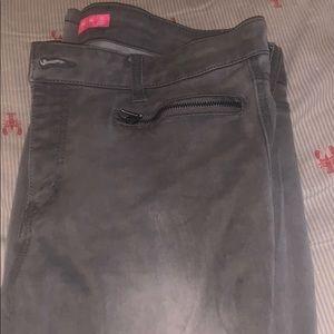 Women's grey skinny jeans